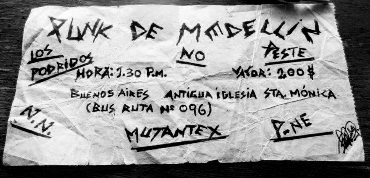 Malos Aires: el cura, los punk, y la policía. Primer festival de punk en Medellín (1986) - musica