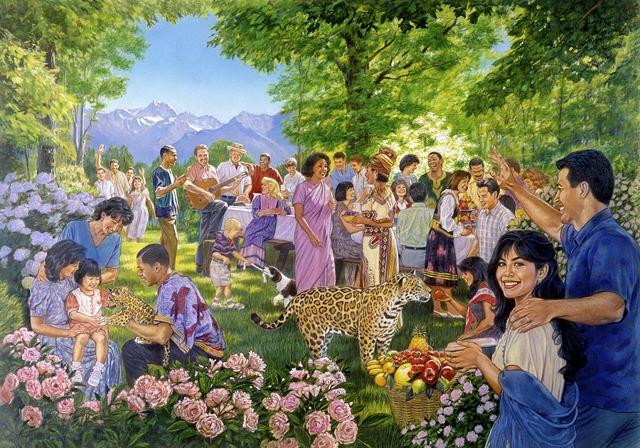 Grata visita de los testigos de Jehová - literatura