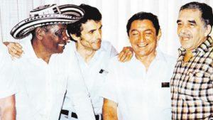 Alejo Durán, Gustavo Gutiérrez, Rafael Escalona y Gabo. Tomada de www.elheraldo.co