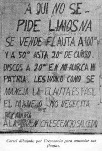 Fotografía publicada por: Jorge Villegas y Hernando Grisales: Crescencio Salcedo: mi vida. Medellín, 1976