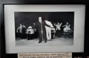 Fotografía de Guillermo Lamus en su época dorada como artista tanguero.