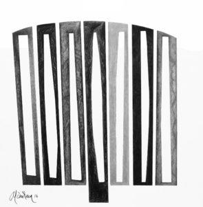 De la serie 30. 2116 Dibujo sobre papel.70x70 cmts. Archivo personal Pedro Alcántara.